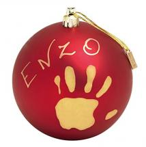 DOREL BABY ART CHRISTMAS BALL RED