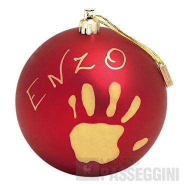 BABY ART CHRISTMAS BALL RED