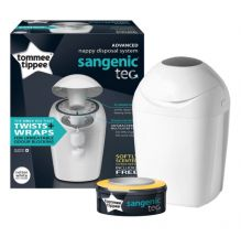 TOMMEE TIPPEE CONTENITORE SANGENIC TEC BIANCO + 1 RICARICA