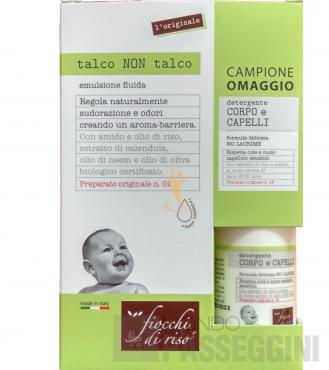 FIOCCHI DI RISO TALCO NON TALCO 120 ml + Detergente omaggio