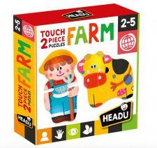 HEADU 2 PIECES PUZZLE TOUCH FARM MU24889